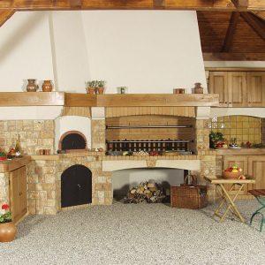 Rustikalni roštilj s krušnom peći i vanjskom kuhinjom Galiot