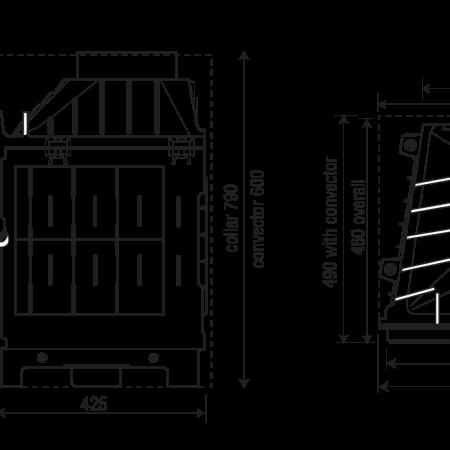 Ložište od lijevanog željeza Celsius - shema