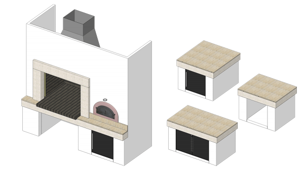 Roštilj Atria - 3D modeli