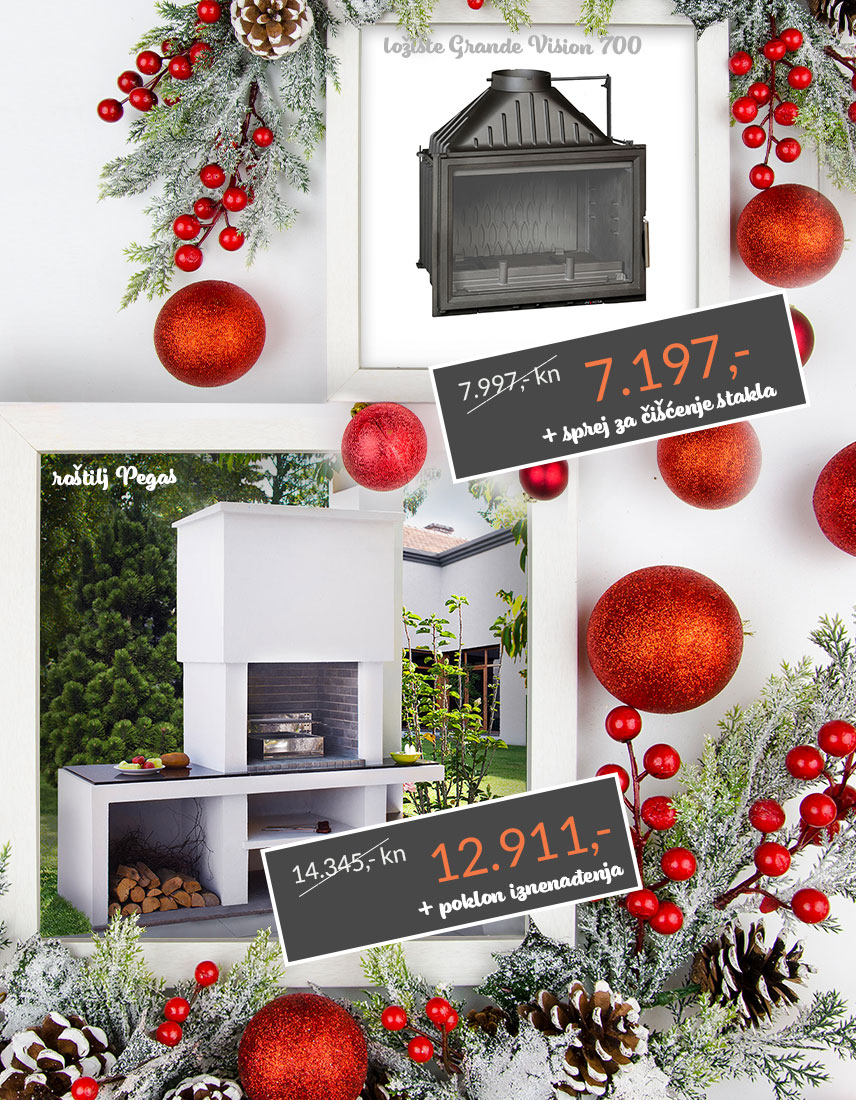 Božićna akcija, ložište i roštilj