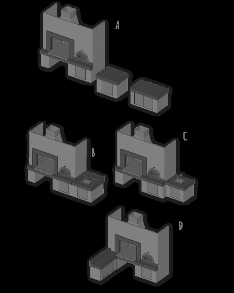 Atria Negro, osnovni modeli