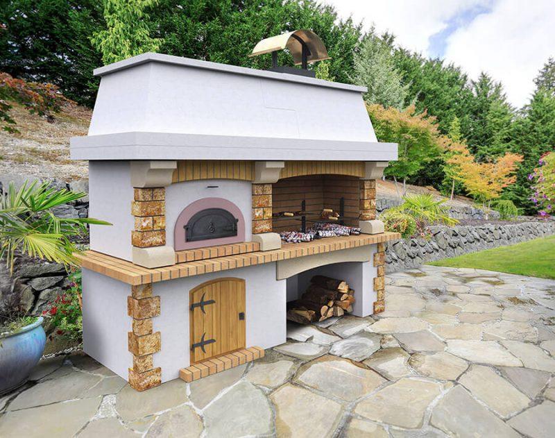 Roštilj s krušnom peći Garibaldi Blanc